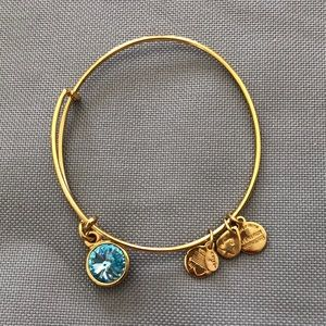 ALEX & ANI LIGHT BLUE STONE GOLD TONE BRACELET